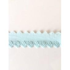 Bordüre 35 mm*hellblau*Baumwolle