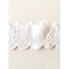 Wäschespitze Bordüre 50 mm*weiß*Baumwolle