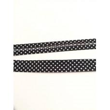 Schrägband schwarz Dots