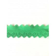 Wäschespitze Bordüre 35 mm*grün*Baumwolle