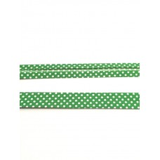 Schrägband grün Dots