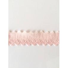Wäschespitze Bordüre 35 mm*rosa*Baumwolle
