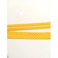Schrägband gelb Dots