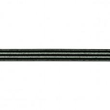 Lurex ♥ Gummiband * 20 mm * Schwarz
