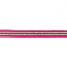 Lurex ♥ Gummiband * 20 mm * Fuchsia