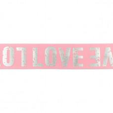 LOVE Gummiband * 40 mm * Rosa