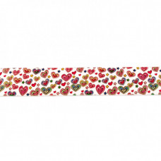 Print ♥ Gummiband * 25 mm * Herzen Multi