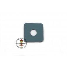 Petrol * Kunstleder Ösen Patch 2,5 x 2,5 cm * 8 mm Ösen