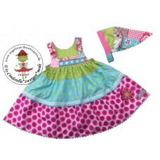 Nanxy Kleid mit Kopftuch Gr. 104