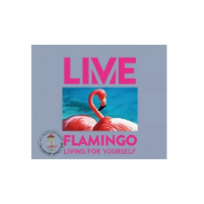 LIVE Flamingo Bügelbild