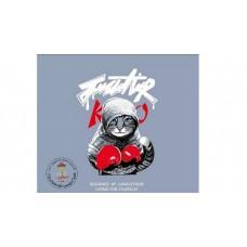 Boxing Cat Bügelbild