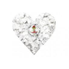Mini Satin Schleife Weiß, 5 Stück