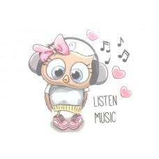 Listen Music Bügelbild