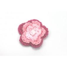 3 D Häkelblume Pink-Rosa