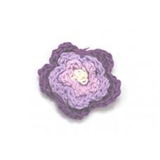 3 D Häkelblume Lila-Flieder