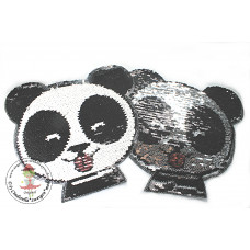 Cute Panda*Wende Pailetten Patch
