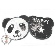 Happy Panda*Wende Pailetten Patch