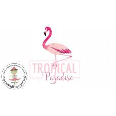 Flamingo Bügelbild