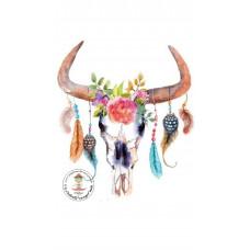 Buffalo Skull 2 Bügelbild