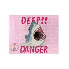 Deep Danger Bügelbild
