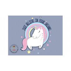 Unicorn Believe Dreams Bügelbild