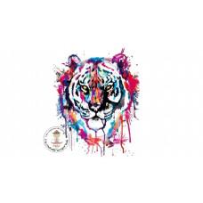 Watercolor Tiger Bügelbild