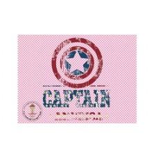 Captain Amerika Bügelbild