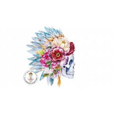 Flower Skull Bügelbild