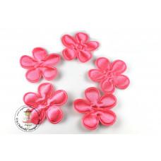 Satin Blume UNI*Pink*5 Stück