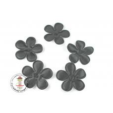 Satin Blume UNI*Black*5 Stück