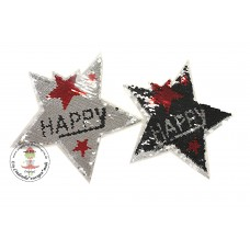 Happy STAR*Wende Pailetten Patch