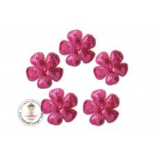 Pailetten Blümchen Pink, 5 Stück