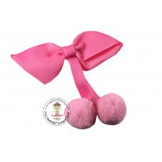 PomPom Schleife Pink