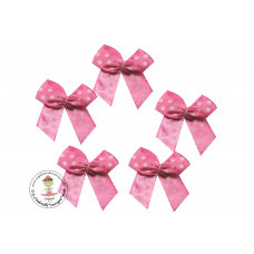 Mini Satin Schleife Dots*pink*5 Stück