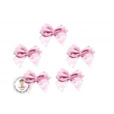 Mini Satin Schleife Dots*rosa*5 Stück