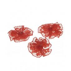 Spitzen*Rosette rot