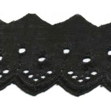 Wäschespitze Bordüre 50 mm*schwarz