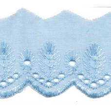 Wäschespitze Bordüre 50 mm*hellblau