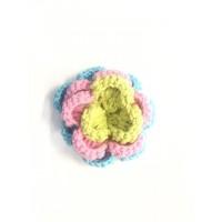 3 D Häkelblume Pastell