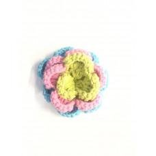 3 D XL Häkelblume Pastell
