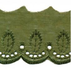 Wäschespitze Bordüre 50 mm*oliv