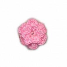 Häkelblume rosa