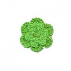 Häkelblume grün