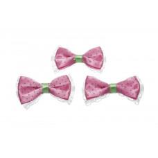 Schleife pink mit Spitze