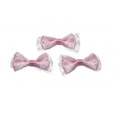 Schleife rosa mit Spitze