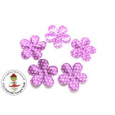 Satin Blume Dots*Berry*5 Stück