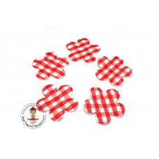Vichy Blume *Rot*5 Stück