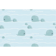 Baumwoll Jersey kleiner Wal