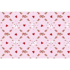 Baumwoll Jersey Butterfly and Hearts