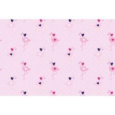Baumwoll Jersey Flamingo Dot